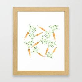 Watercolor carrots Framed Art Print