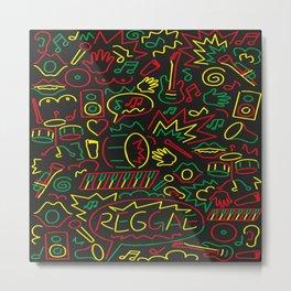 Roots, Rock and Reggae Metal Print