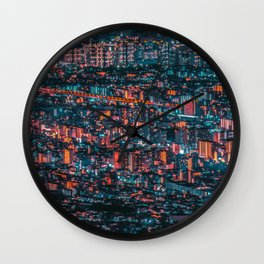 NEO JAPAN(A forest building) Wall Clock