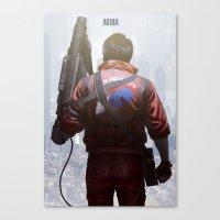 akira Canvas Prints featuring Akira by ImmarArt