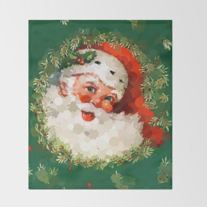 Christmas Throw Blanket.Bubble Dot Santa Christmas Throw Blanket By Saravalor