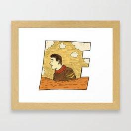 E_ Framed Art Print