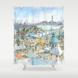Il Porto (view of Genoa) Shower Curtain
