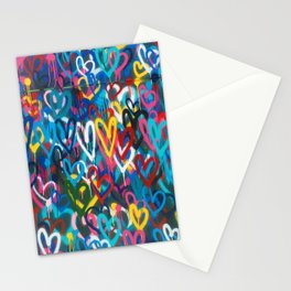 Graffiti Hearts Love (Color) Stationery Cards