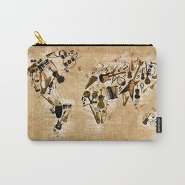 world map music 2 Carry-All Pouch