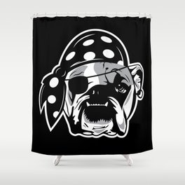 Pirate Dog Shower Curtain
