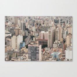 city caos São Paulo Canvas Print