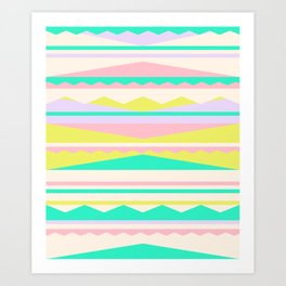 Color Blocks (Cute Nursery Pattern) (13-Nov-17) #ColorBlocks #Zala02Creations #Society6 Art Print