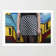Skirt and cig Art Print