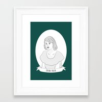 sylvia plath Framed Art Prints featuring Sylvia Plath Illustration Portrait by Illustrated Women in History