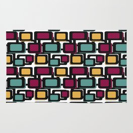 Seamless pattern with geometric elements Rug