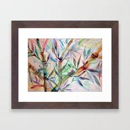 bamboo rainbow Framed Art Print