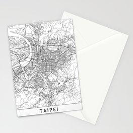 Taipei White Map Stationery Cards