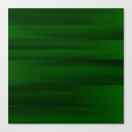 Emerald Green and Black Abstract Canvas Print
