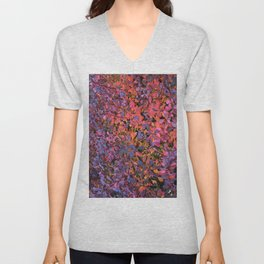 Colorful Fall Leaves Unisex V-Neck