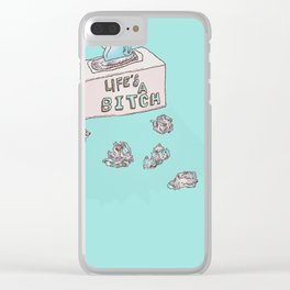 Lifes A Bitch Clear iPhone Case