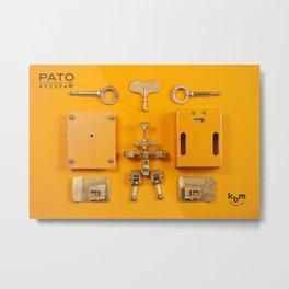 Break up a PATO Metal Print