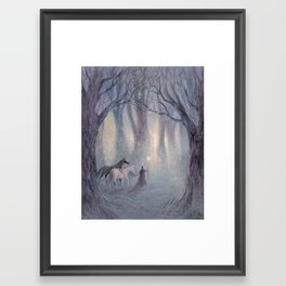 The Lights of the Woods Framed Art Print