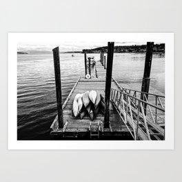 Sittin' on the Dock of the Bay Art Print