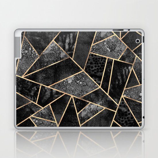 Black Stone 2 Laptop & iPad Skin