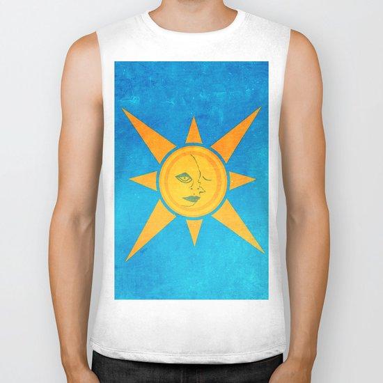 Sun Shining and Moon Sleeping Biker Tank