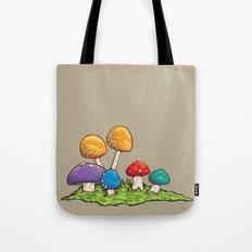Mushrooms (Colors) Tote Bag