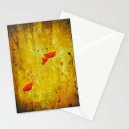 Poppies In The Golden Garden Stationery Cards