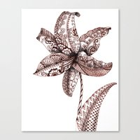 henna Canvas Prints featuring Henna Lily by Elisa Camera
