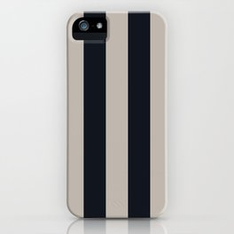 Vertical Stripes Black & Warm Gray iPhone Case