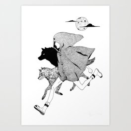 RUNNING WITH WOLVES Art Print