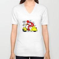 vespa V-neck T-shirts featuring Vespa! by Gian Piero Mongiu