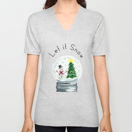 Let it Snow Unisex V-Neck