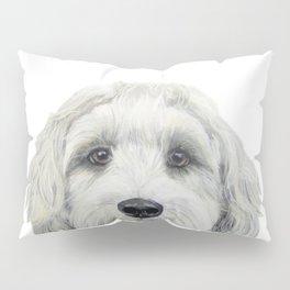 Labradoodle white by miart Pillow Sham