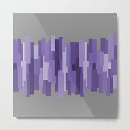 pravokut (violet) Metal Print