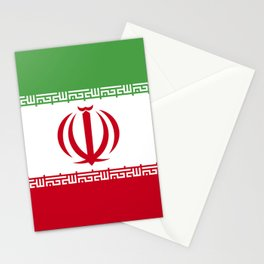 Iran flag emblem Stationery Cards
