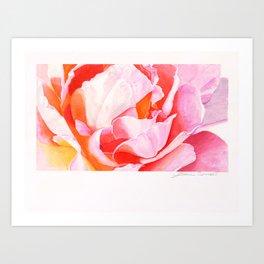 Beth's Rose Watercolor Art Print
