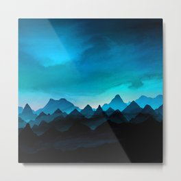 Night Storm In The Mountains Metal Print