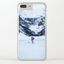 Lake Louise Hockey Clear iPhone Case