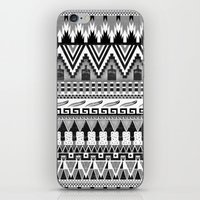 whisky iPhone & iPod Skins featuring WHISKY AZTEC B/W  by Kiley Victoria