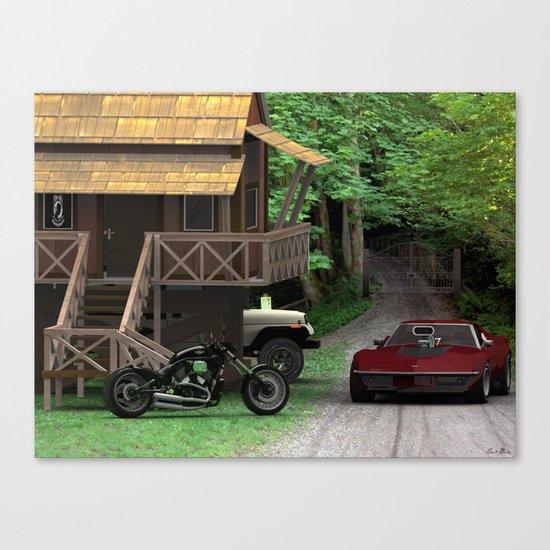 A man's dream home Canvas Print
