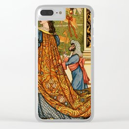 Vintage French Beaut and the Beast illustration Clear iPhone Case