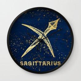 Sagittarius Zodiac Sign Wall Clock