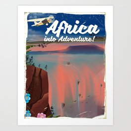 Africa Into Adventure! Art Print