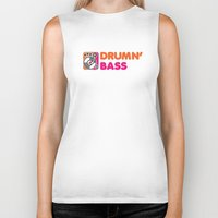 bass Biker Tanks featuring Drumn' Bass  by Jonah Makes Artstuff