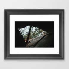 Robbers Cave Framed Art Print