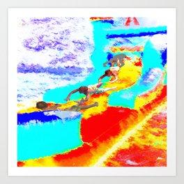Bouncy Sky Dive Art Print