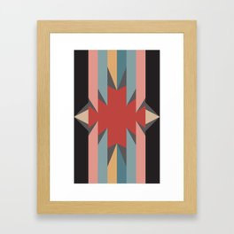 Red Star - Style Me Stripes Framed Art Print