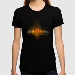 Phoenix Arizona, City Skyline Cityscape Hq v4 Dark T-shirt