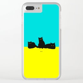 Three Cats Clear iPhone Case