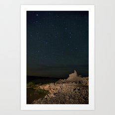 Alone under the stars  Art Print